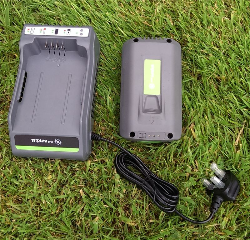Order a The Lithium Ion Battery Charger Combo including 2.6Ah battery for all of your Titan Pro gardening tools.